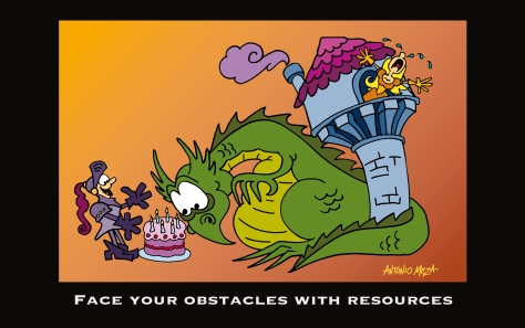 Face your obstacles with resources, for my blog Akrobatas-Stories